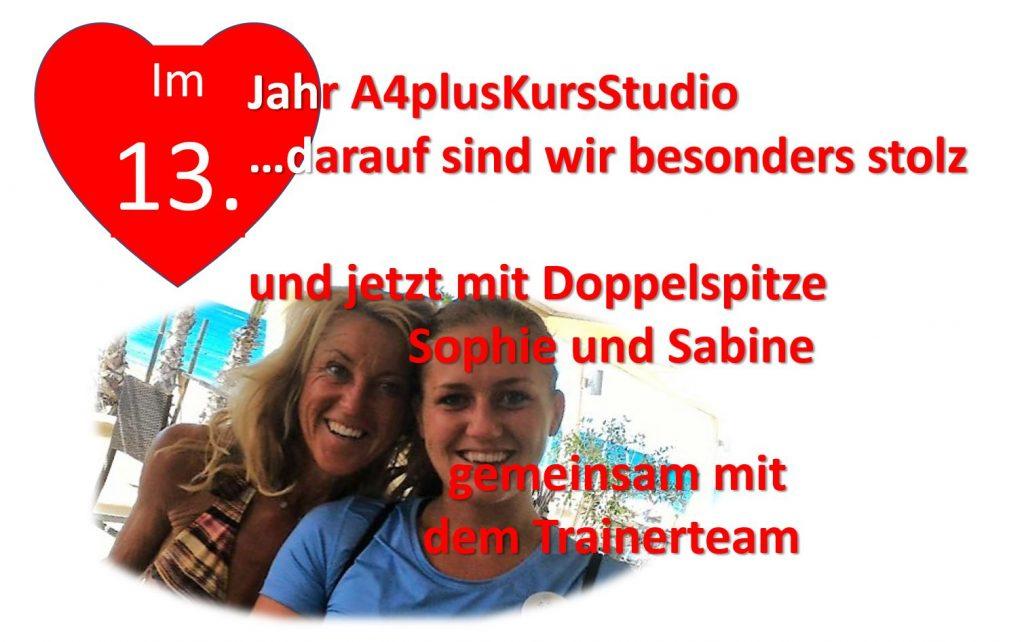 13. Jahr mit Sophie und Sabine